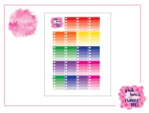 PBTT Classic Multi Ombre Checklist Sticker Sheet