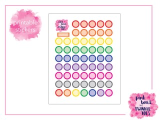 PBTT Classic Multi Scallop Reminder Circle Sticker Sheet