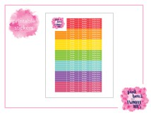 PBTT Light Multi Header Sticker Sheet