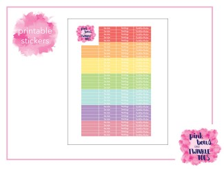 PBTT Pastel Multi Header Sticker Sheet