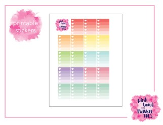 PBTT Pastel Ombre Checklist Sticker Sheet