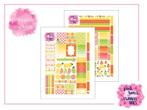 PBTT Tangy Citrus Sticker Kit Two Pages