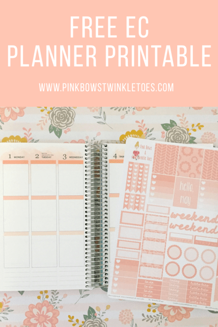 May Functional Planner Stickers: Free Printable - Pink Bows & Twinkle Toes