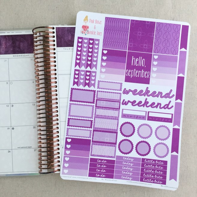 September Functional Planner Stickers: Free Printable - Pink Bows & Twinkle Toes
