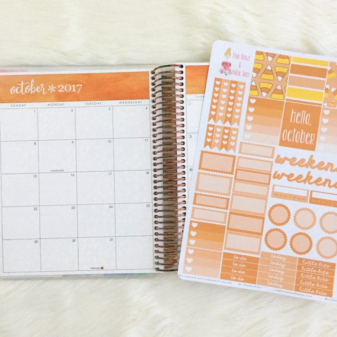 October Functional Planner Stickers: Free Printable - Pink Bows & Twinkle Toes