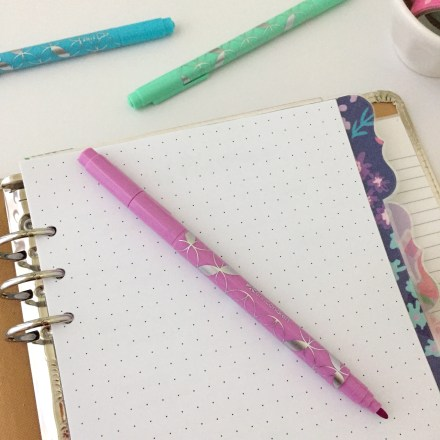 Dot Grid Insert: Free A5 Planner Printable - Pink Bows & Twinkle Toes