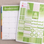 December Functional Planner Stickers: Free Printable - Pink Bows & Twinkle Toes