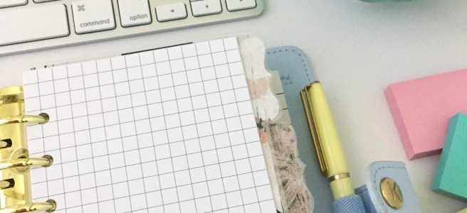 Graph Paper Insert: Free Personal Size Planner Printable - Pink Bows & Twinkle Toes