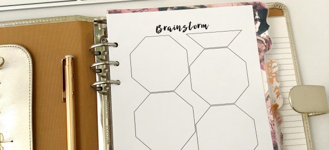 Brainstorm Insert: Free A5 Planner Printable - Pink Bows & Twinkle Toes