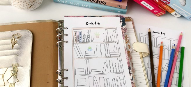 Reading & Book Log: Free A5 Planner Printable - Pink Bows & Twinkle Toes