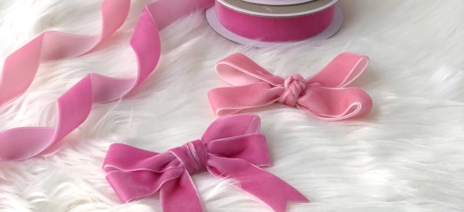 Easy DIY: Velvet Ribbon Bows Part 3 - Pink Bows & Twinkle Toes