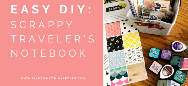 Scrappy Traveler's Notebook - Pink Bows & Twinkle Toes