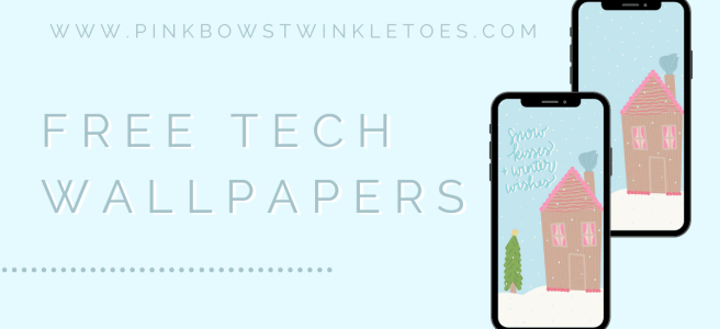 Free Download Gingerbread House Tech Wallpapers - Pink Bows & Twinkle Toes