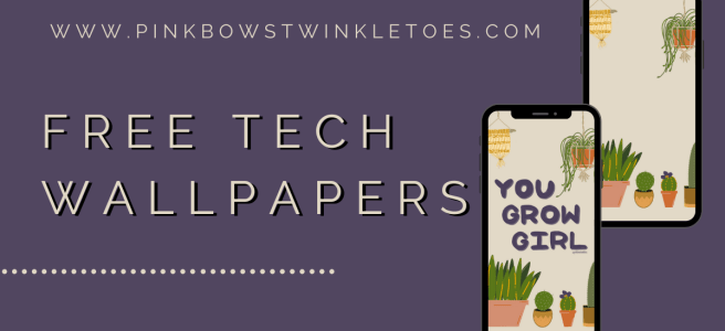 Free Download: Plant Lady Tech Wallpapers - Pink Bows & Twinkle Toes