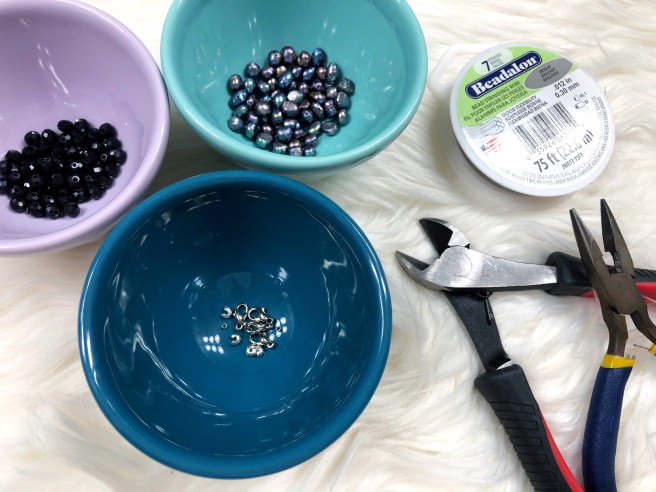 Beading supplies - Pink Bows & Twinkle Toes