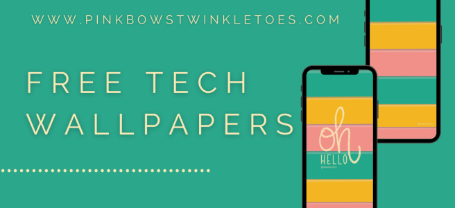 Hello Stripe Tech Wallpapers - Pink Bows & Twinkle Toes