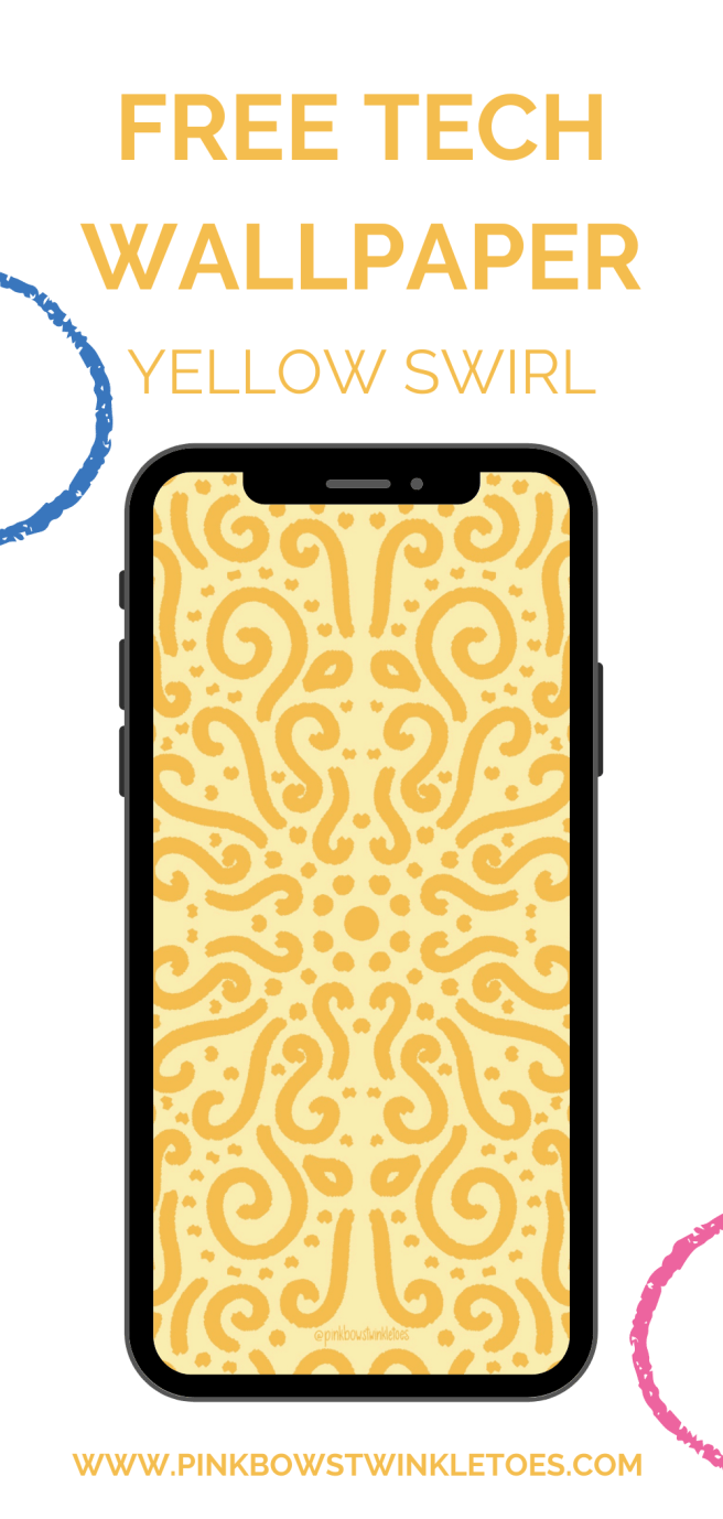 Yellow Swirls Tech Wallpapers Pinterest Image - Pink Bows & Twinkle Toes