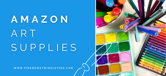 Affordable Amazon Art Supplies - Pink Bows & Twinkle Toes