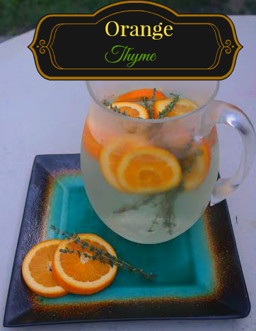 Orange Thyme Detox Water