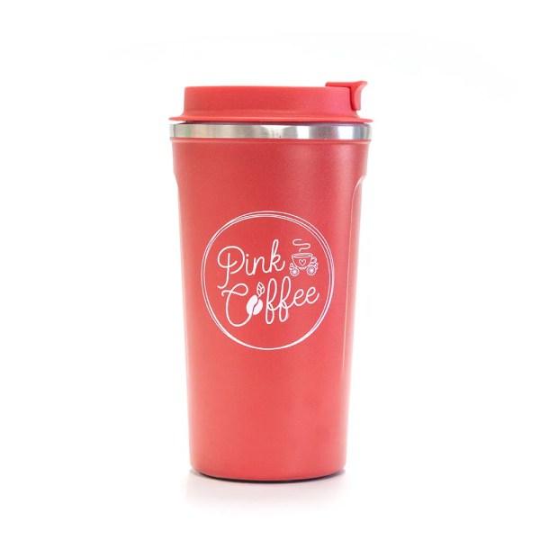 Pink Coffee Tumbler