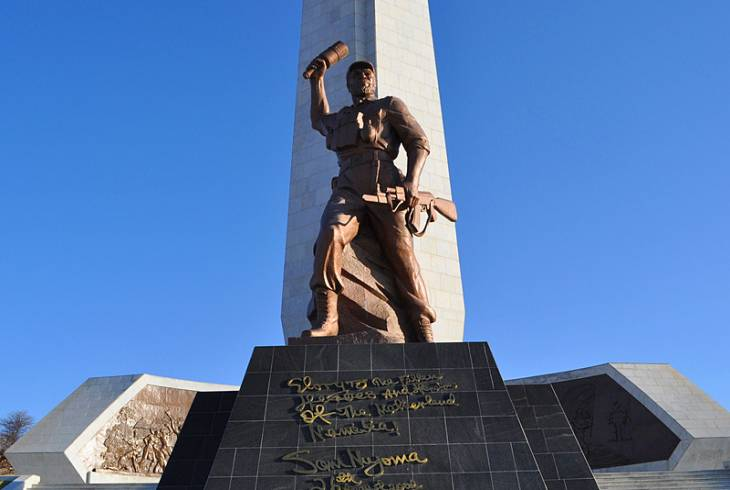 Heroes' Acre on a hill overlooking Windhoek, Namibia