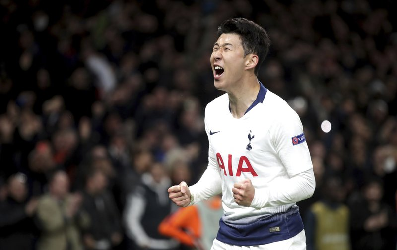 Son gives Tottenham first-leg victory over Man City