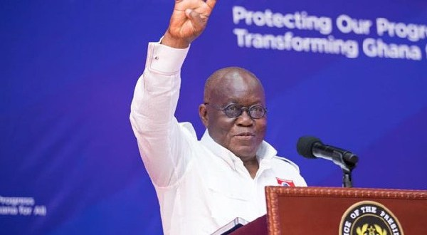President Nana Addo Dankwa Akufo-Addo retained his seat as president