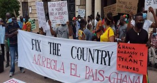 GHANAIANS IN SPAIN JOIN  FIX-THE-COUNTRY DEMONSTRATION