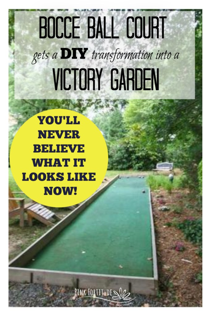 Our family decided to transform an existing Bocce Ball Court into a Victory Garden. Here's proof that with a little creativity and a lot of hard work, you can build a vegetable garden in your own back yard! Check out the before and after, the DIY, and transformation!
