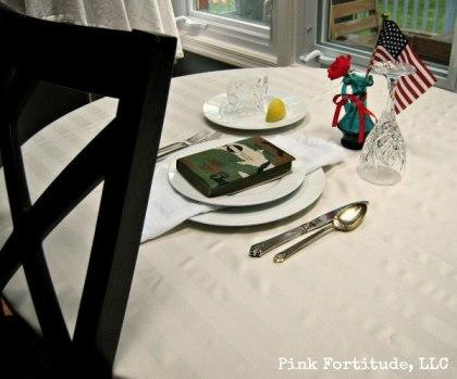 POW MIA Missing Man Table Setting by coconutheadsurvivalguide.com