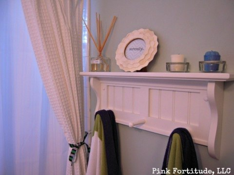Guest Bathroom Reveal in Palladium Blue by coconutheadsurvivalguide.com #beachy #nautical #beadboard