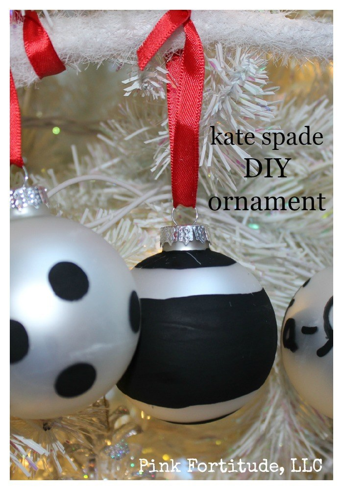 Kate Spade DIY Christmas Ornament - Pink Fortitude, LLC