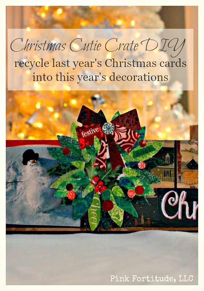 Do you keep old Christmas cards every year?  This is an easy way to recycle those cards and make a DIY that will be a big hit with this year's decorations.