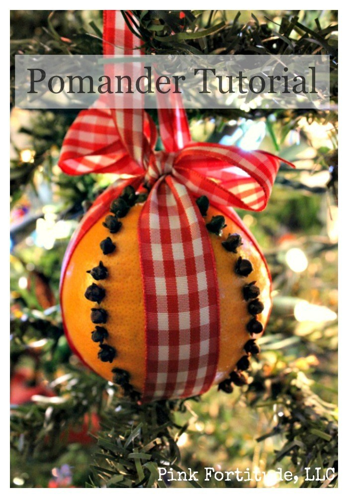 The pomander has it's origins back to the Middle Ages.  Today, the Pomander is more associated with Colonial times, however, research varies if they were made mostly with apples or oranges.  Nonetheless, a Pomander is a fragrant and festive decoration you can display at home, or give as a Christmas or holiday gift. #DIY #craft #Christmas #pinkfortitude