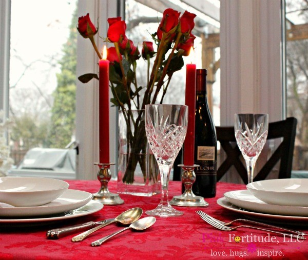A Romantic Valentines Tablescape