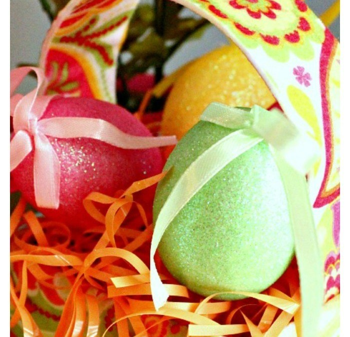 Lilly Pulitzer Inspired Easter Basket Craft