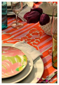 Running of the Lilly Tablescape