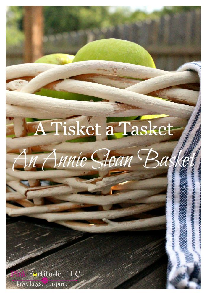 Annie Sloan Basket DIY in Old White by coconutheadsurvivalguide.com