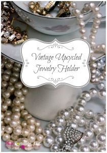 Vintage Upcycled Jewelry Holder