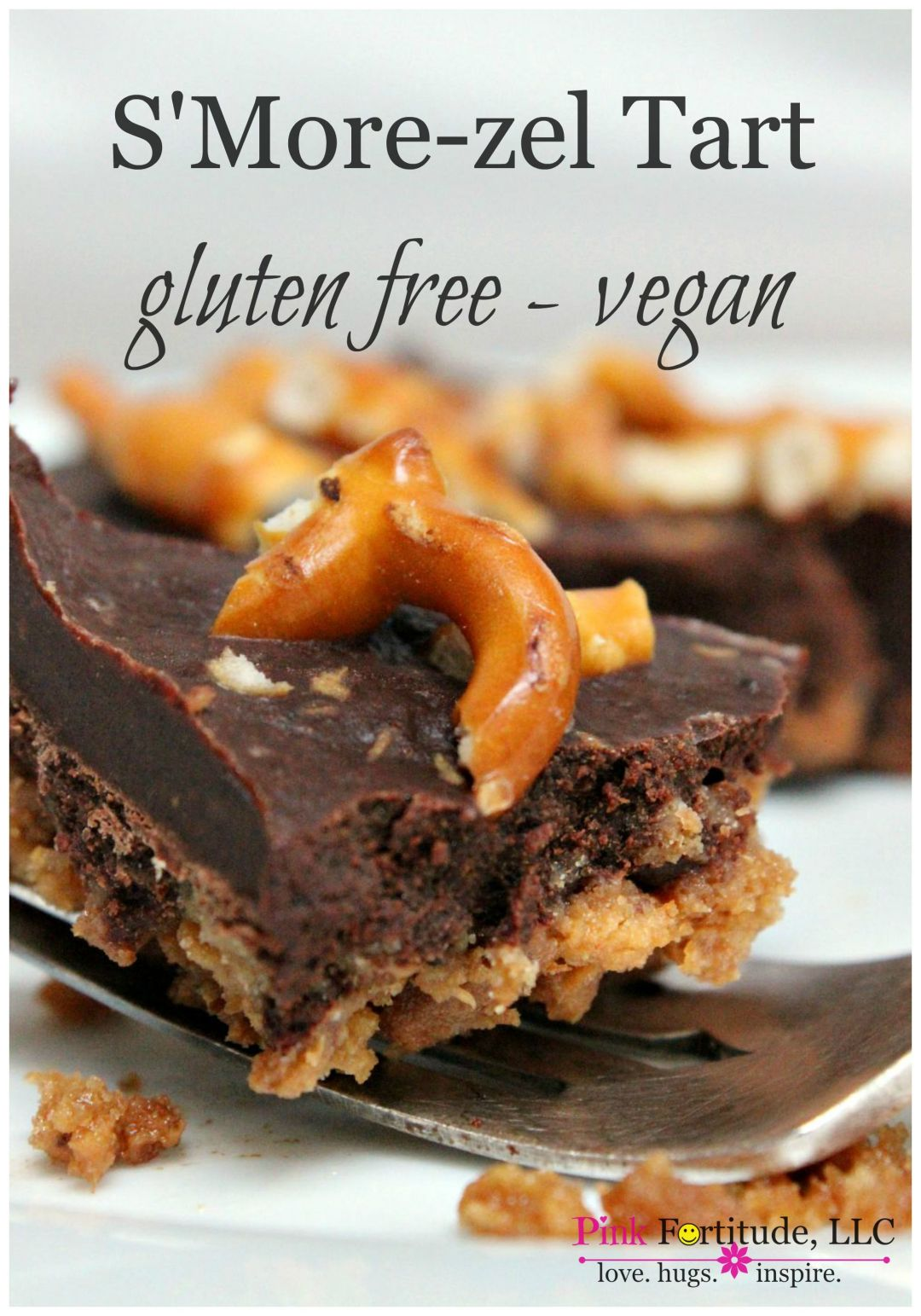 s'more-zel tart gluten free and vegan by coconutheadsurvivalguide.com #lovebeanfudge #schar