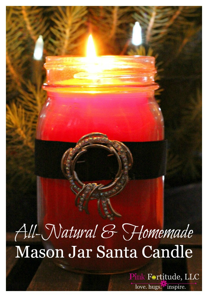Today my loves, you are getting TWO tutorials - an all in one stop to make an all-natural and homemade mason jar Santa Candle. This was my first foray into homemade candle making. It was fun to try something new, and I'll take you through it step-by-step so you can make one yourself!