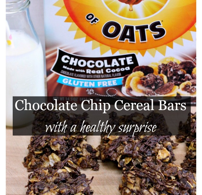 Chocolate Chip Cereal Bars with a Healthy Surprise