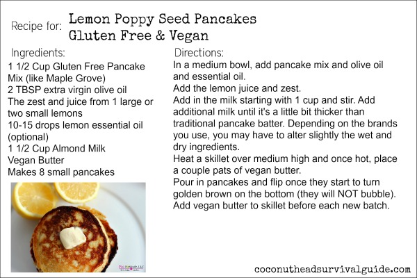 Lemon Poppy Seed Pancakes Recipe Card