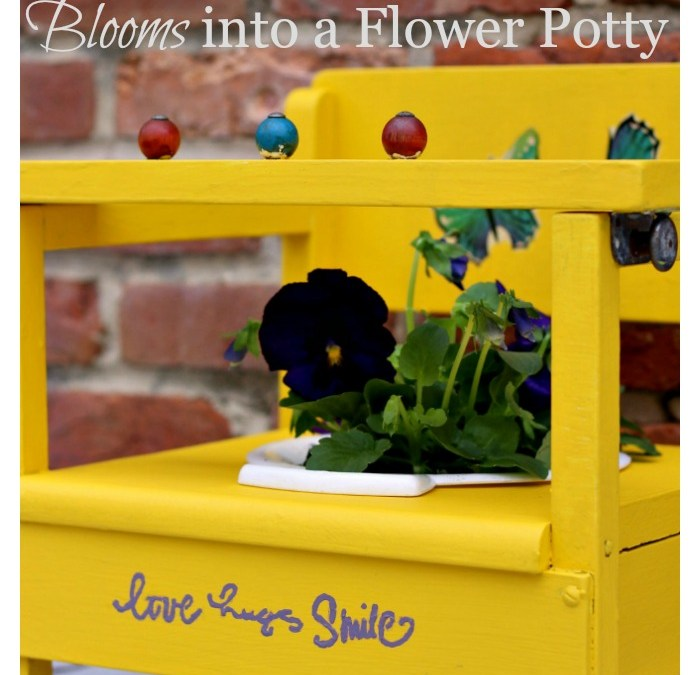 Vintage Toddler Potty Blooms into a Flower Potty