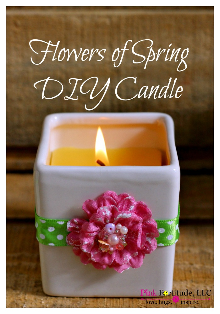 Bring the fresh aroma of spring flowers inside with this DIY candle. It's pretty easy to make, it's all natural, and it will fill your home with the freshness of spring flowers.