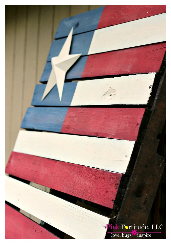 Making an American flag pallet is nothing new. It's all over Pinterest in every version you can imagine. This is my creation, and you will be shocked at how easy it is to make! Read on for the DIY!