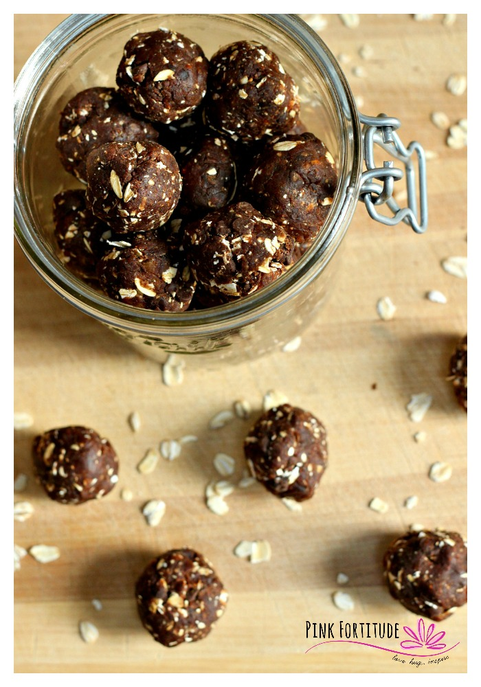 These no bake energy bites are quick and easy to make, and are super healthy and nutritious for sustained energy. Perfect as a compliment to breakfast, or as a snack during the day. Oh... and they taste something close to a no-bake cookie or a Lara Bar.