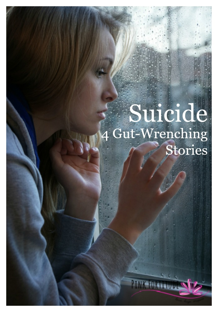 Suicide is an uncomfortable topic to discuss, but it's too real to ignore. In 2014, there were just under 43,000 suicide deaths in the United States (source), with approximately 8,000 by our military veterans (VA). Think it can't happen to someone you love? Here are four gut-wrenching stories of loss and love, along with resources to help.
