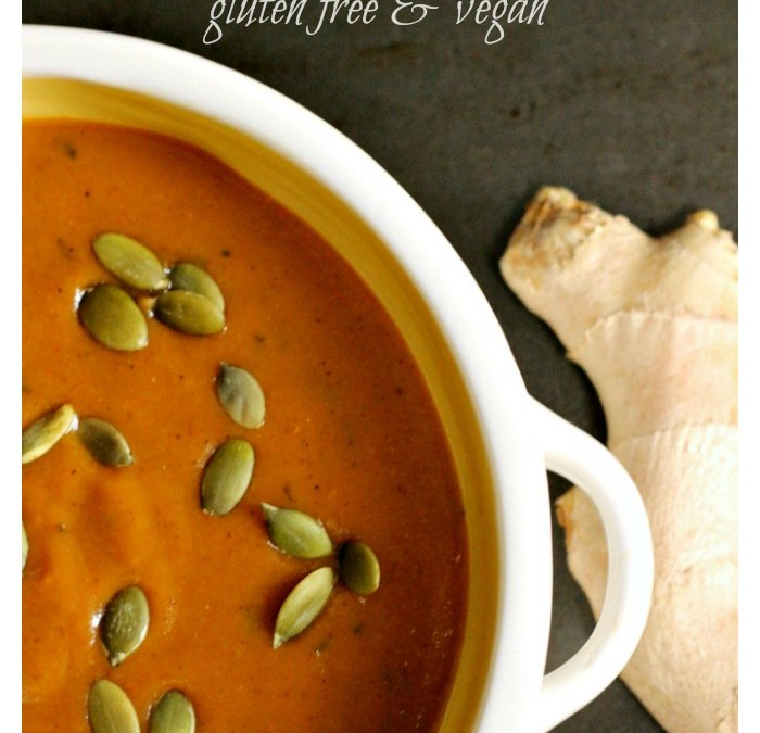 A Ginger Pumpkin Bisque with Layers of Flavor (GF/V)
