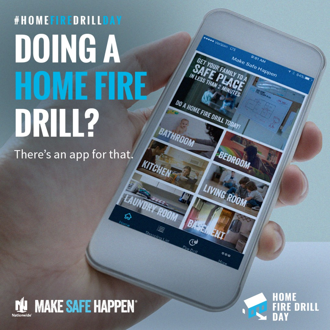 We do fire drills at school. We do them at work. Now let's do them at home. A home fire happens every 86 seconds, yet half of parents say their kids wouldn't know what to do if their smoke alarm went off. Home Fire Drill Day is when we'll change that by turning drills into family games.